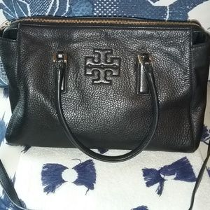Tory Burch Thea Black Leather Satchel/Crossbody